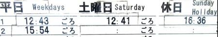 長崎三原郵便局前のポスト取集時刻