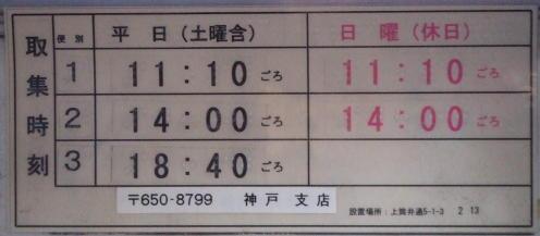 ポスト写真 : 2008/03/03現在 : 神戸上筒井郵便局の前 : 兵庫県神戸市中央区上筒井通五丁目1-3