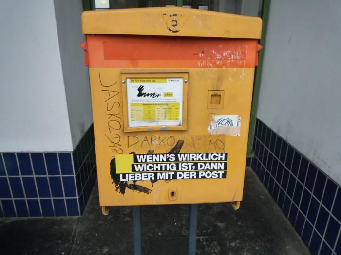 ウィーン・ブライテンゼー駅ポスト1